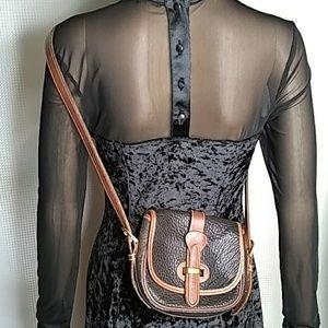 Dooney & Bourke cross-body bag brown and black
